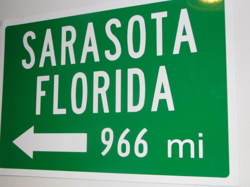 Sarasota Mileage Sign