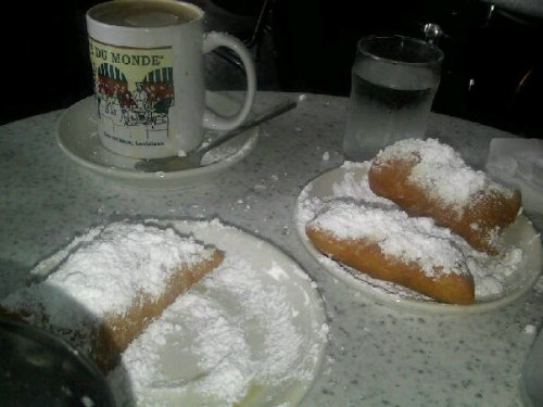 Café au Lait and Beignets at Cafe Du Monde