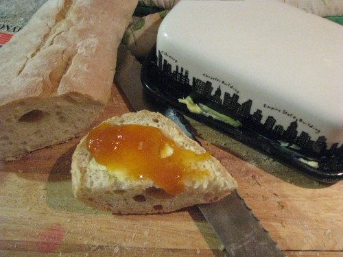 marmalade on bread