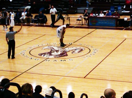 My nephew, Sean, playing basketball at Riverview High School.