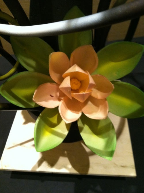 One of Vincent Pilon's chocolate flowers